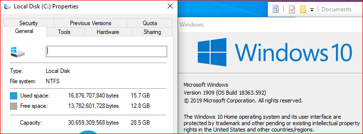 Which version of Win10? 32bit or 64bit on 32GB SSD-ver1909-32-bit.png