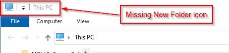 Upgrade to 2004 19041.264 now missing New Folder icon in File Explorer-missnewfolder.jpg