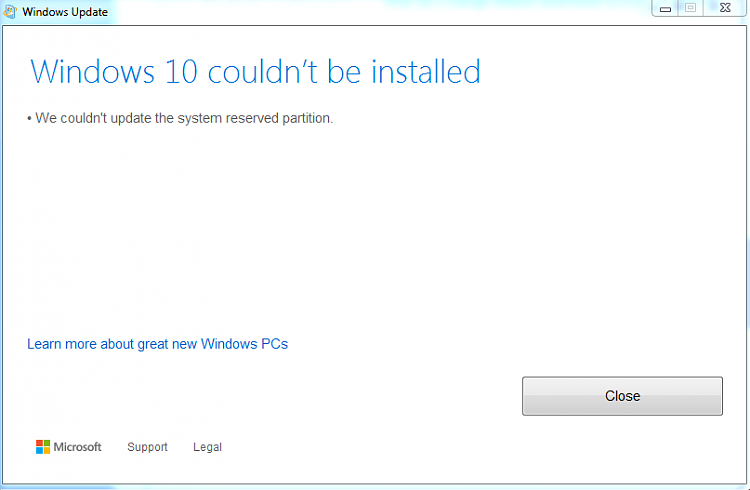 couldnt update system reserved partition.PNG
