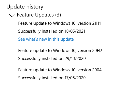 Windows 10 21H1 upgrade invitation has disappeared-21h1-feature-update-history.png