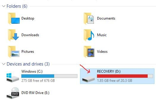 how to access recovery drive windows 10