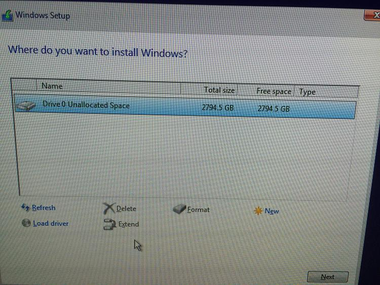 install windows 10 on new hard drive after crash