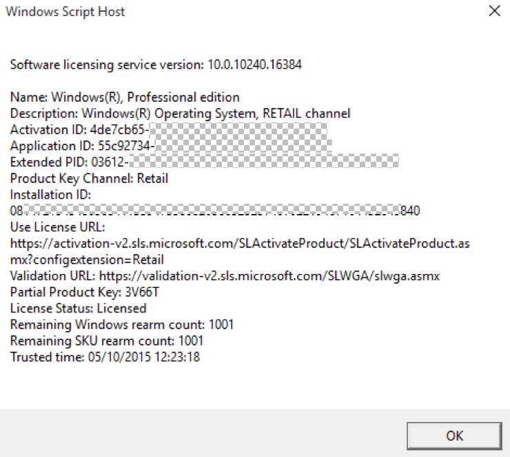 Click image for larger version.  Name:SLMGR slash-dlv - obfuscated.PNG Views:2 Size:175.2 KB ID:41163