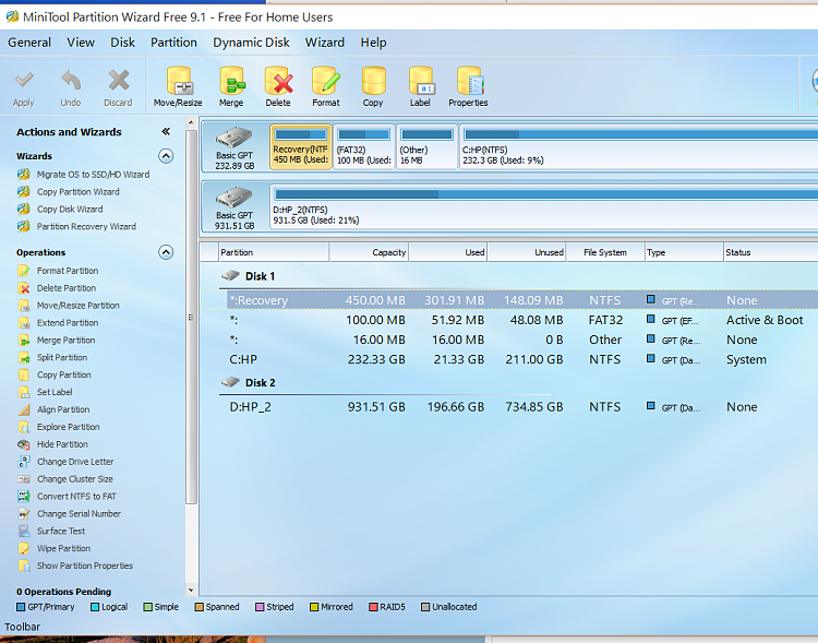How to increase the System Reserved Partition size-minitool1.png