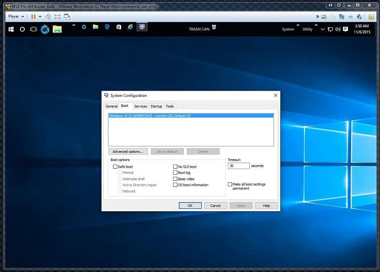 Click image for larger version.  Name:MSConfig Boot Options on Windows 10 Insider Preview 10586.jpg Views:3 Size:102.6 KB ID:46531