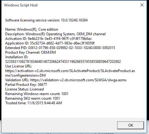 Windows 10 home to pro upgrade, error 0x8000FFFF-captureslmgr.png