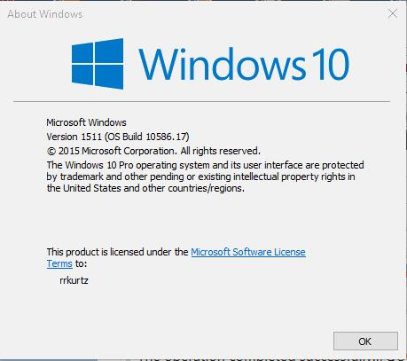 Unable To Update To Build 10586 Windows 10 Forums