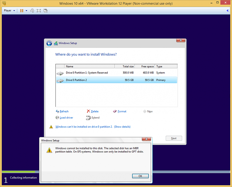 Help windows 10 pro not able to create install partition solved click image for larger version name convert gpt 1g views 2 ccuart Gallery