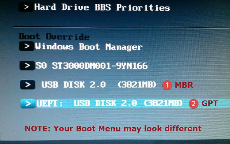 how to create uefi boot usb windows 10