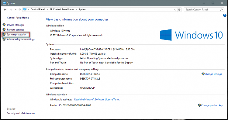 how to find installation id windows 10