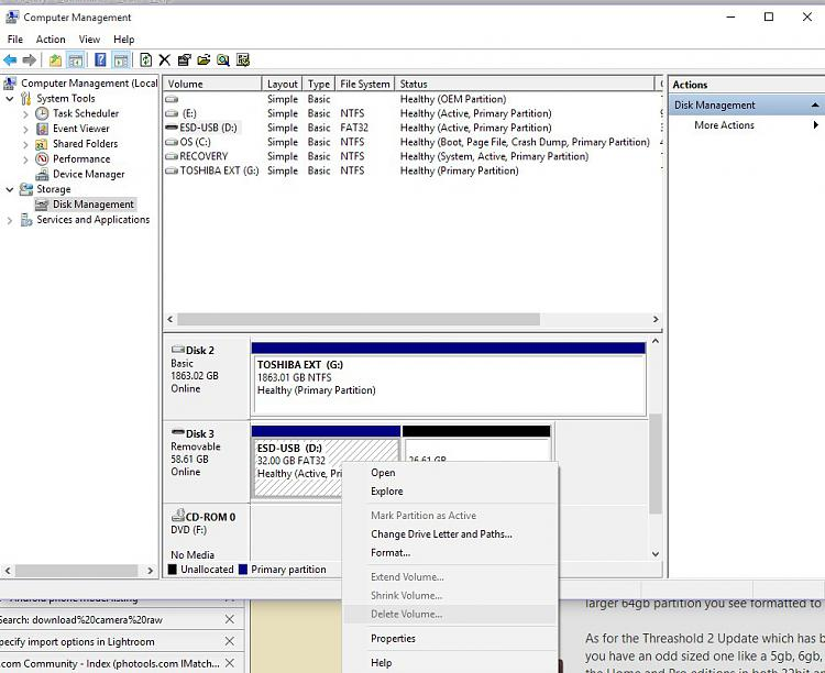 Click image for larger version.  Name:disk manager delete greyed out.jpg Views:1 Size:140.4 KB ID:69538