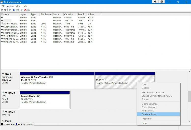 Click image for larger version.  Name:Data Recovery Stick Delete Volume Option.jpg Views:1 Size:148.3 KB ID:69544