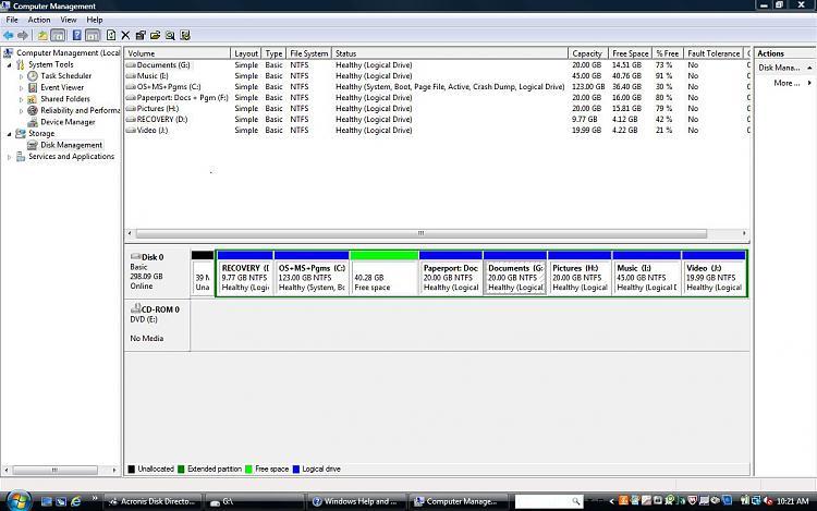 Capture Disk Management after del of MediaDirect and EISA 31MB..JPG