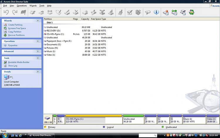Capture Acronis after del of MediaDierct and EISA 31MB.JPG
