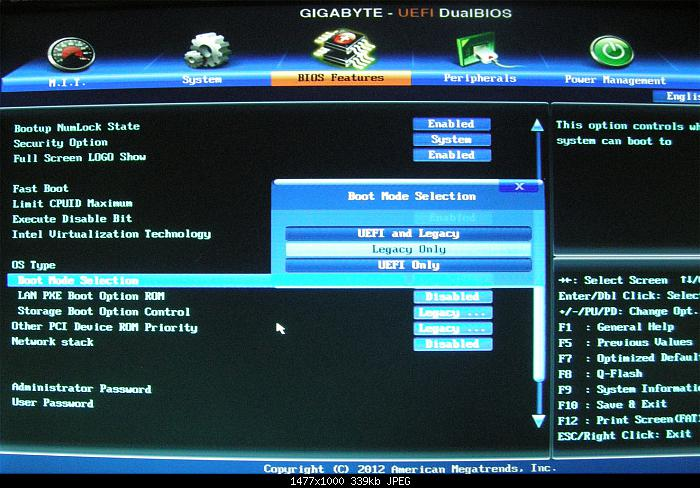 bios usb boot uefi