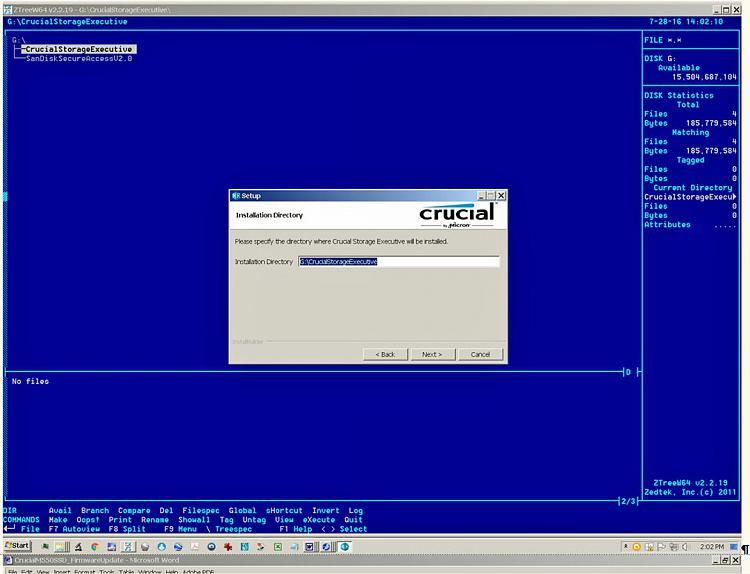 Click image for larger version.  Name:StorageExecInstallStartOnG.jpg Views:4 Size:119.2 KB ID:92757