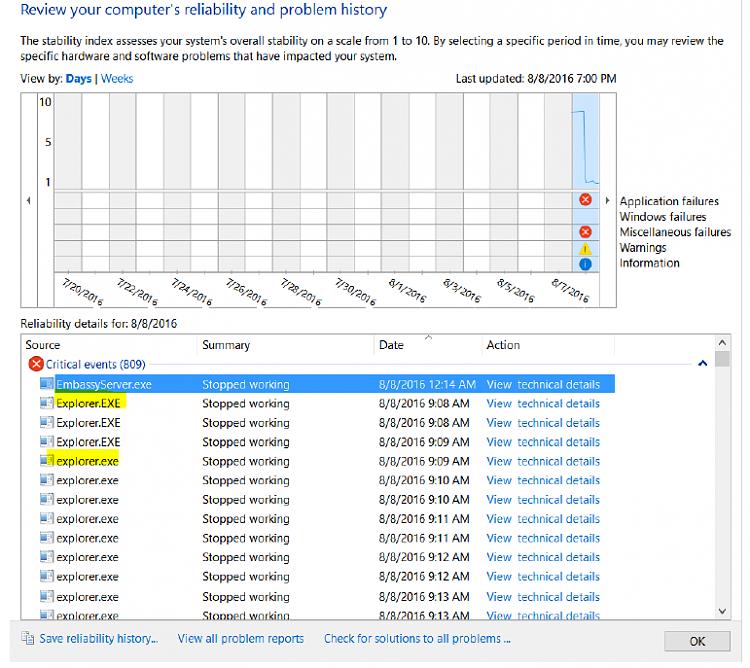 Install over Windows 7 has problems - can I reinstall over Windows 7-explorer-exe-reliability.png