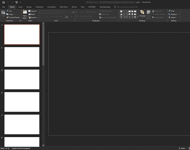 PowerPoint 2016 - All presentations blank - Windows 10 Forums