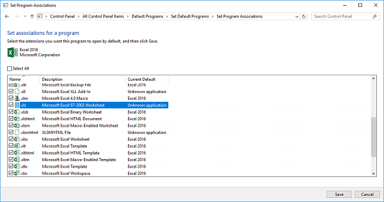 How to make Excel 2016 the default app to open xls and xlsx data ...