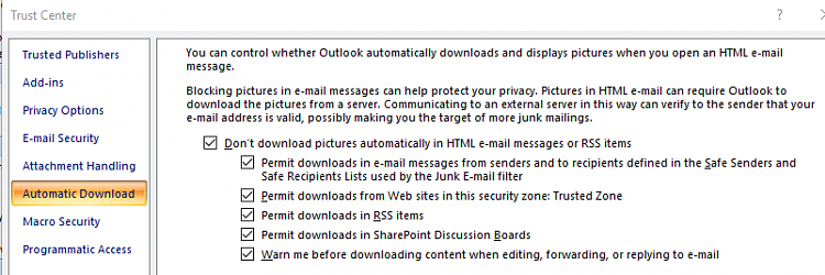 Click image for larger version.  Name:Outlook, Tools, Trust centre, Automatic download.PNG Views:2 Size:26.0 KB ID:187430