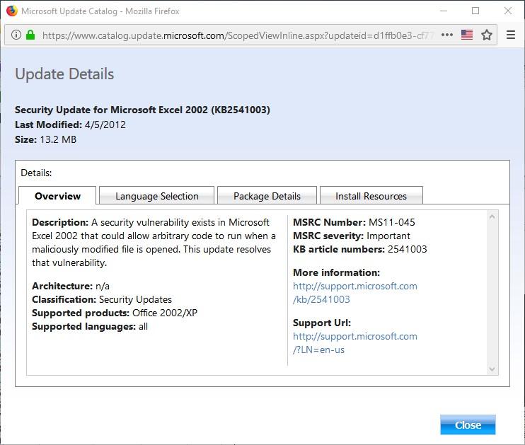 Security Update for Microsoft Excel 2002 (KB2541003).jpg