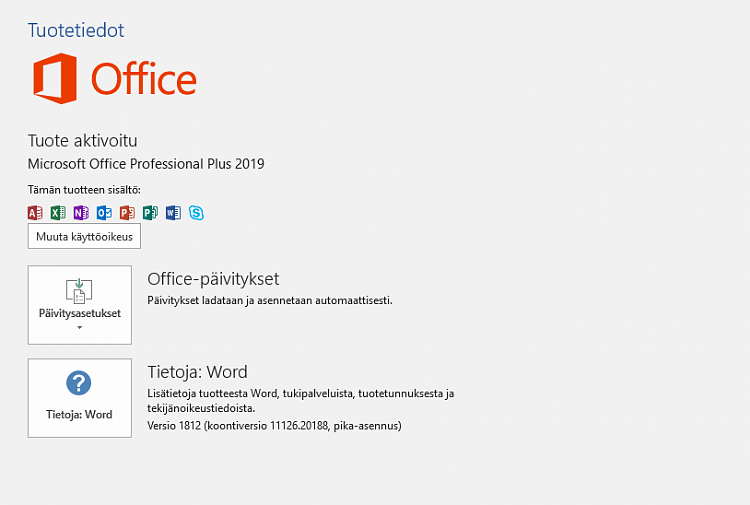 Word(Office 2019) can't convert pdf files / Outlook crashes