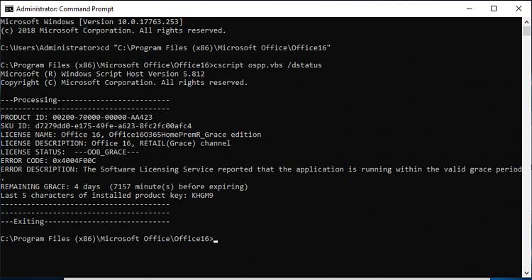 Office License Management Tool-o365-cscript.png