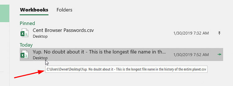 4ed625644a98 Excel - Word  How to change the file open dialogue  - Windows 10 Forums