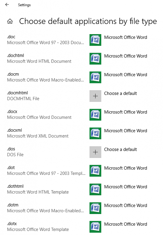 If I click on a DOCX file, it always opens in LibreOffice