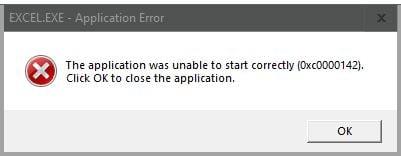 unable to start correctly error 0xC0000142