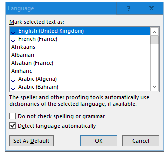 AutoCorrect in French not reliable-word-language.png