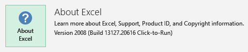 """The notorious """"No preview only of Excel files in Explorer""""-about-excel-version.jpg"""