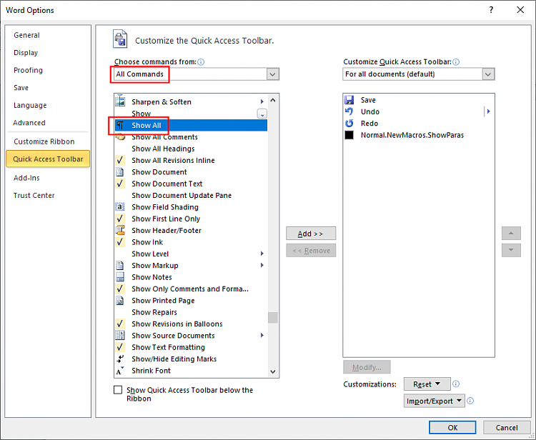 """Add """"Show/Hide Paragraph Marks"""" to Quick Access Toolbar in Word 2010?-wrd2010-show_all.png"""