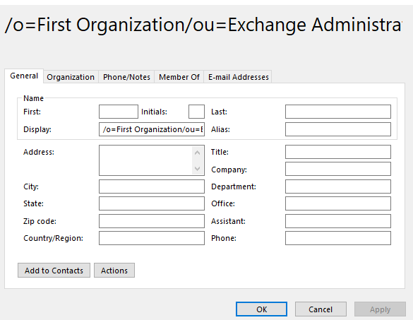 Outlook 2016 Win-10 Cannot send email to one address-one.png