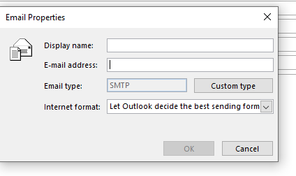 Outlook 2016 Win-10 Cannot send email to one address-two.png