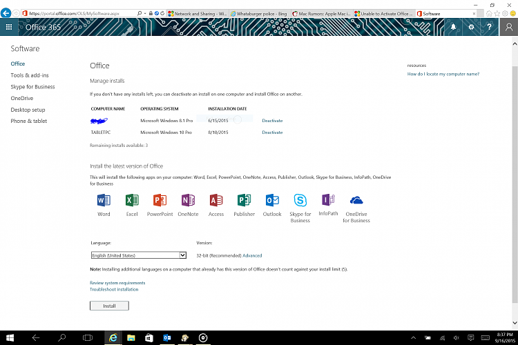 Unable to Activate Office 365 Pro Plus on Windows 10 Solved