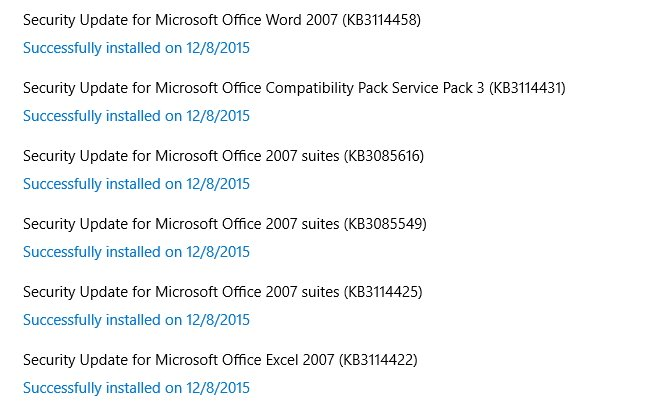 Click image for larger version.  Name:MS Office updates.jpg Views:9 Size:131.5 KB ID:53031