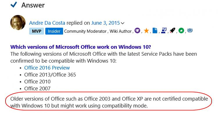 MS Office 2003 and Windows 10 - Windows 10 Forums