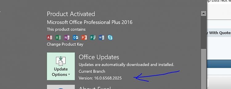 Jump Lists Not working for Word 2016 or Excel 2016-excel2016.png