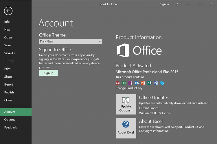 Office 2016 latest update black theme now gone - Latest version of office for windows ...