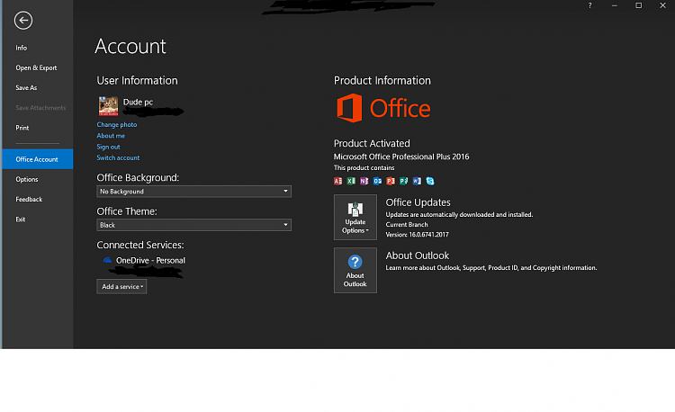 Office 2016 latest update black theme now gone solved - Latest version of office for windows ...