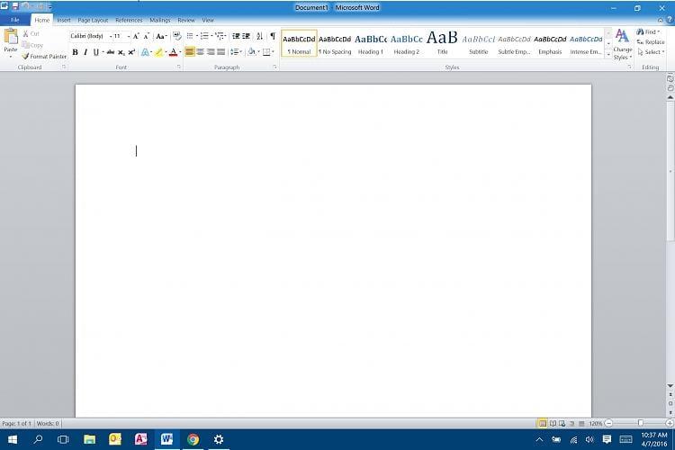 ms word 2010 windows 10