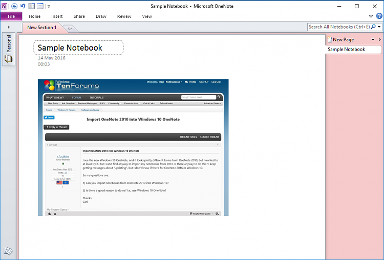Import OneNote 2010 into Windows 10 OneNote Solved - Windows