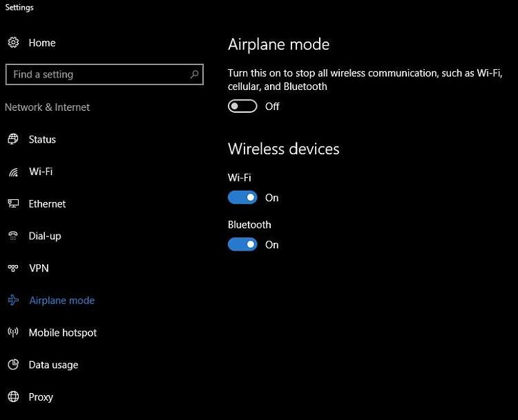Wifi Can T Be Turned Off Unless By Airplane Mode Windows 10 Forums