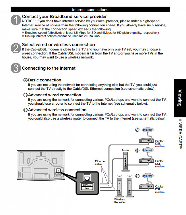 Can't get Panasonic Viera TV to recognize home wifi? Solved - Page 2