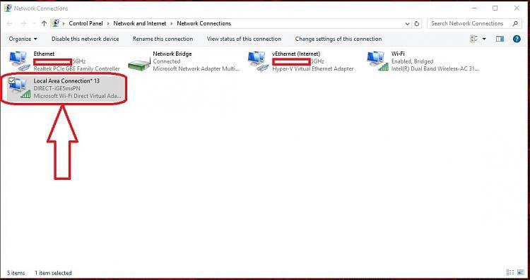 Windows 10 Wifi Direct