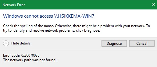 trouble accessing Win7 computer using NETWORK in Explorer from Win10-error.jpg