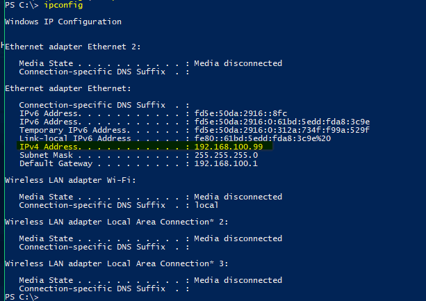 PC reports that it is not possible to set up a Homegroup-ipconfig.png