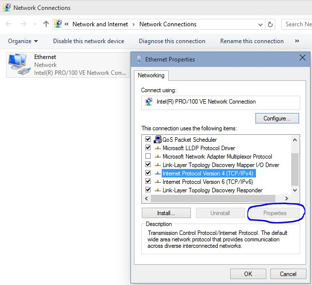 Win 10 Build 10049 - Problems with Ethernet properties - Windows 10 Forums