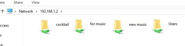 My media players can't access a shared folder on the PC